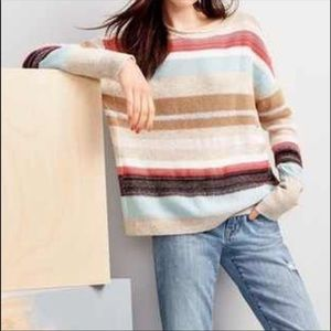 CASLON Striped colorful sweater buttons in back MP